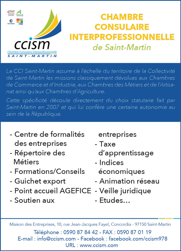 CCISM 2019 - Annuaire Téléphonique Saint Martin