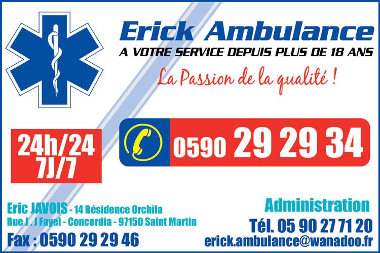 Erick Ambulance - Annuaire Téléphonique Saint Martin