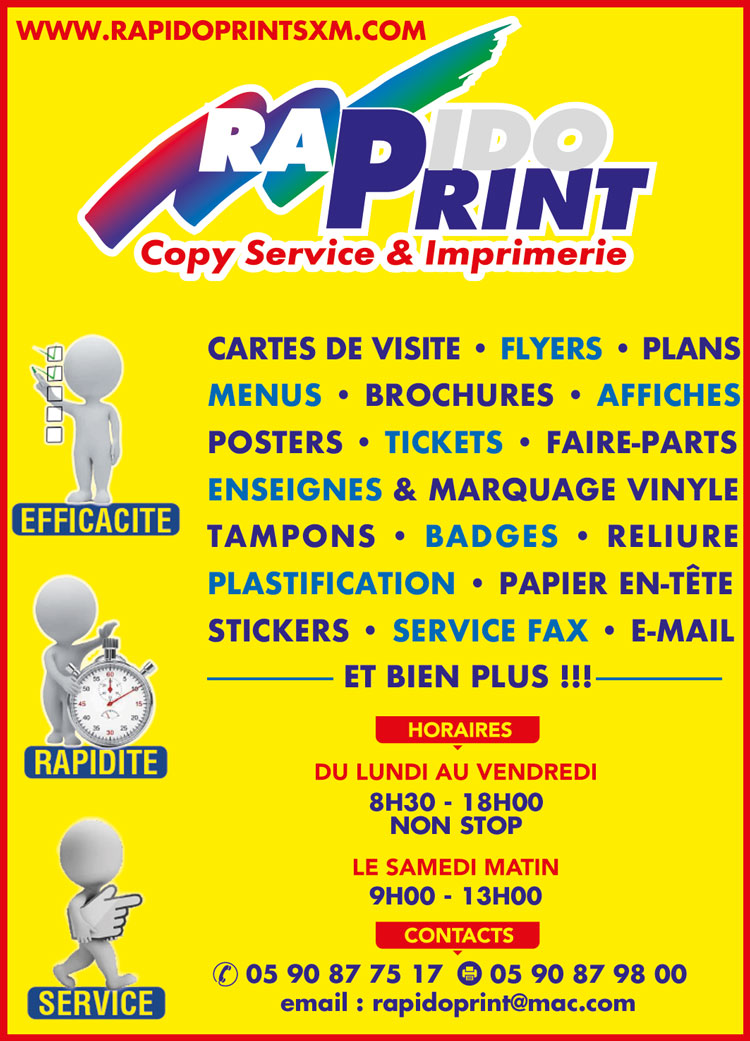 RAPIDO PRINT - Annuaire Téléphonique Saint-Martin