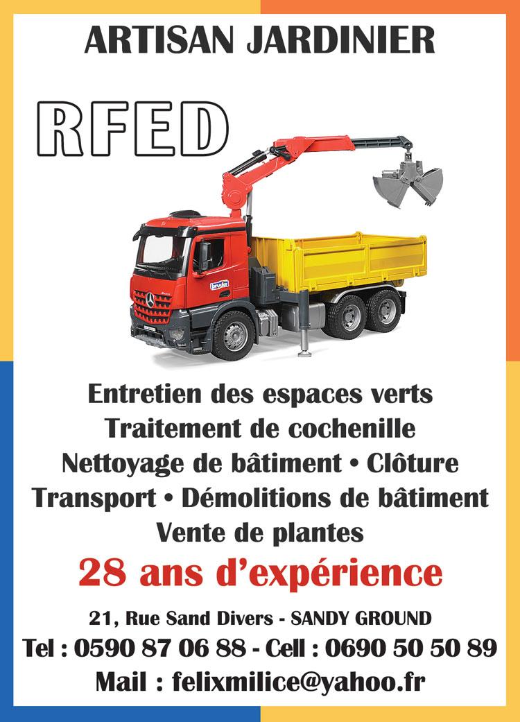 RFED - ARTISAN JARDINIER - Annuaire Téléphonique Saint-Martin